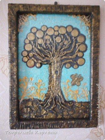 Моё второе денежное дерево по технике пейп-арт. фото 1