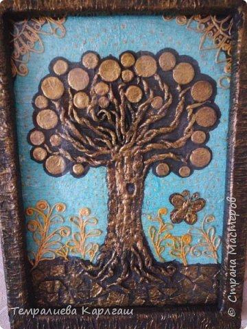 Моё второе денежное дерево по технике пейп-арт. фото 4