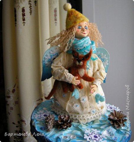 Даже у ангелов есть котики. Текстильная кукла. фото 4