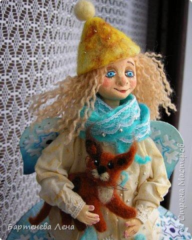 Даже у ангелов есть котики. Текстильная кукла. фото 2