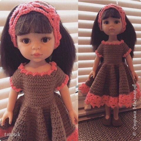 Одежда для кукол Paola Reina, вязанная крючком фото 1