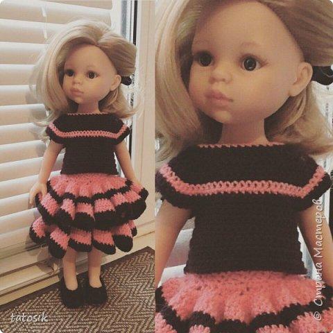 Одежда для кукол Paola Reina, вязанная крючком фото 2