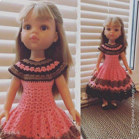 Одежда для кукол Paola Reina, вязанная крючком фото 3