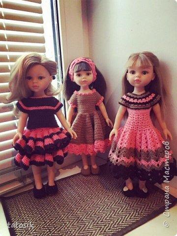 Одежда для кукол Paola Reina, вязанная крючком фото 4