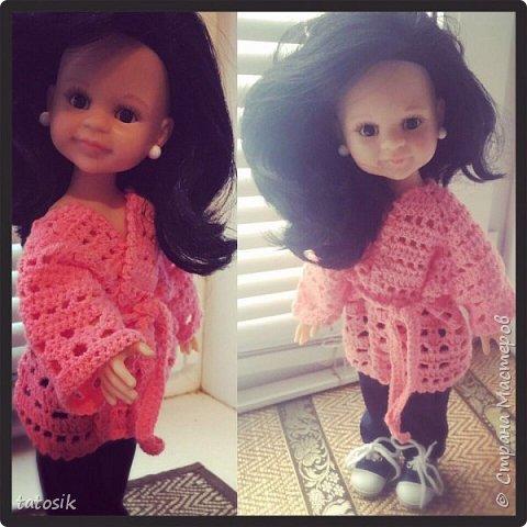 Одежда для кукол Paola Reina, вязанная крючком фото 6