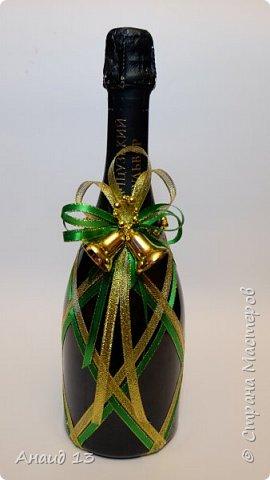 Скоро Новый год! Вот и решила сделать пару бутылочек для поздравления! фото 2