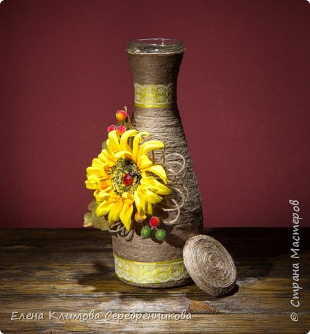 Очень люблю декорировать разные бутылочки, хороший подарок.  фото 12