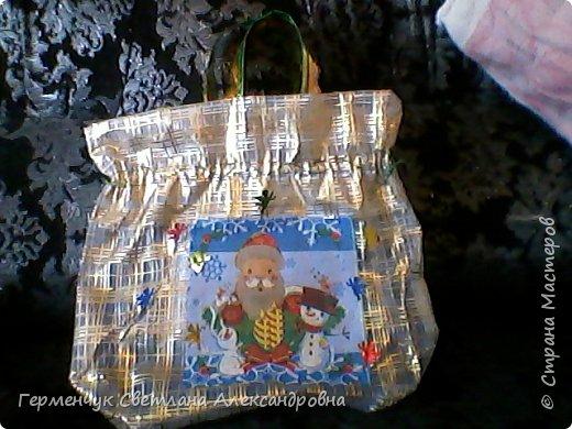 Мешок для подарков на Новый год и Рождество фото 2