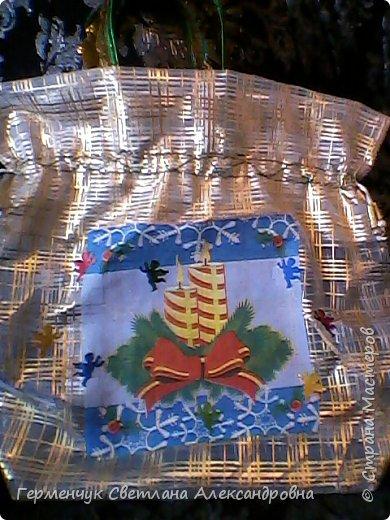 Мешок для подарков на Новый год и Рождество фото 4