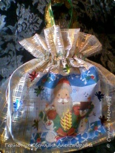 Мешок для подарков на Новый год и Рождество фото 6