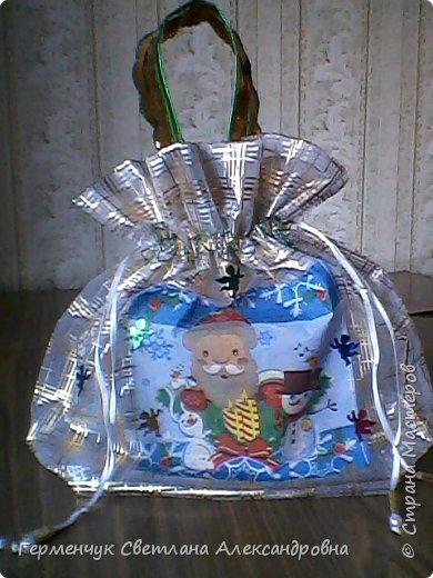 Мешок для подарков на Новый год и Рождество фото 7