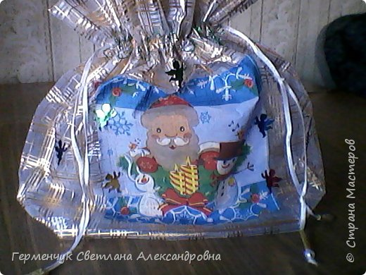 Мешок для подарков на Новый год и Рождество фото 1