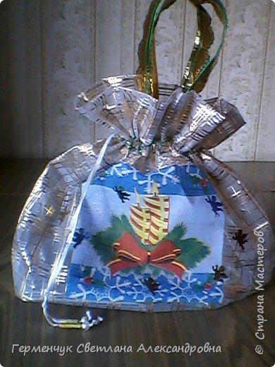 Мешок для подарков на Новый год и Рождество фото 9