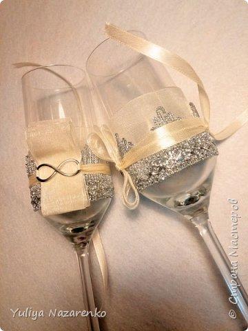 Гамма: серебро + цвет шампанского. Ниже мастер - класс) фото 8