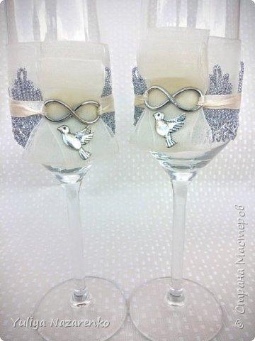 Гамма: серебро + цвет шампанского. Ниже мастер - класс) фото 9