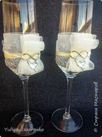 Гамма: серебро + цвет шампанского. Ниже мастер - класс) фото 15