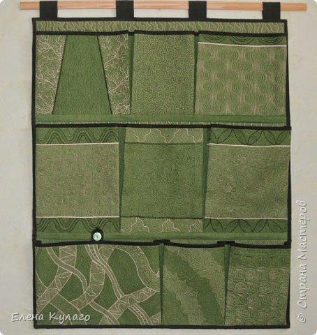 Карманы сшиты из ткани(50% лен, 50% хлопок). Рисунок -  свободно-ходовая машинная стежка. фото 1