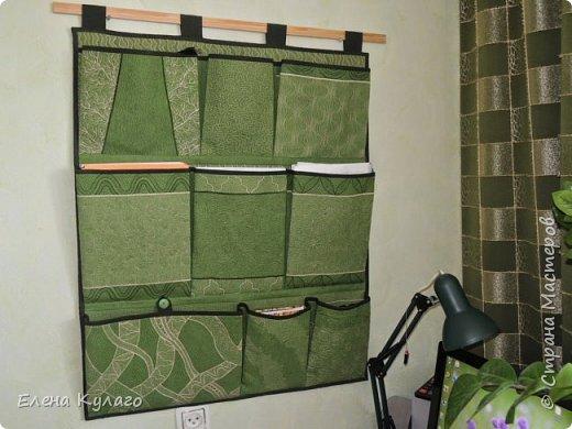 Карманы сшиты из ткани(50% лен, 50% хлопок). Рисунок -  свободно-ходовая машинная стежка. фото 2