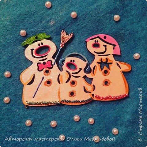 Новогодняя игрушка Семейка снеговиков