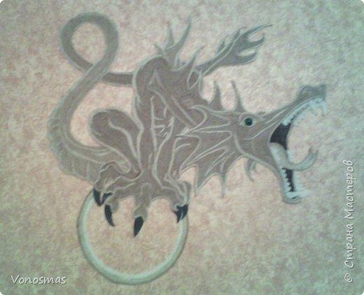 всем салют!!! это дракон из джутового шпагата. И немного пошаговых фото. фото 1