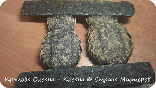 вот такие совята родились в виде ключницы (крючки в процессе покупки)) фото 5