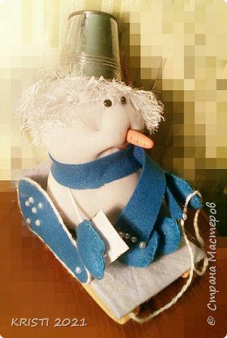 В записи про сани я писала, что у меня в планах создать снеговика. Но у меня на него не хватало времени. ..и сегодня...я сделала снеговичка :) фото 2