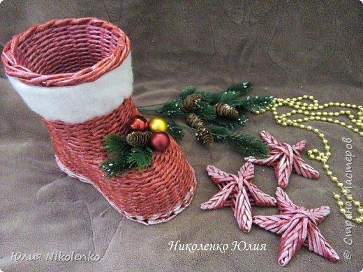 Сапожок новогодний-рождественский! фото 2