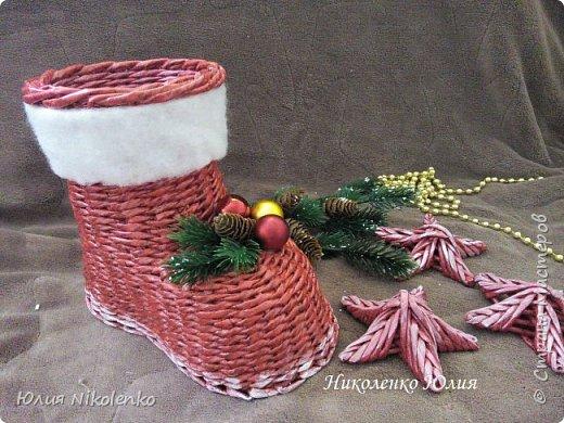 Сапожок новогодний-рождественский! фото 4