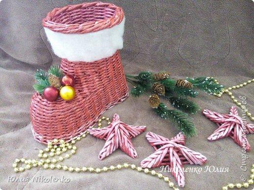 Сапожок новогодний-рождественский! фото 5