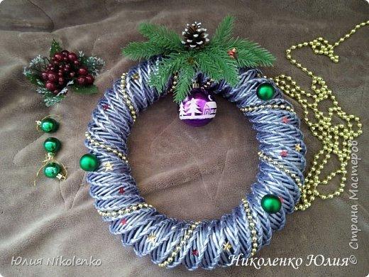 Рождественские и новогоднии венки фото 6