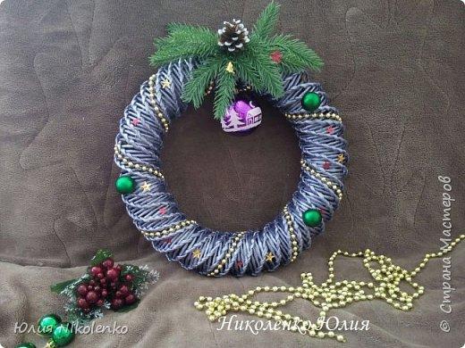 Рождественские и новогоднии венки фото 7