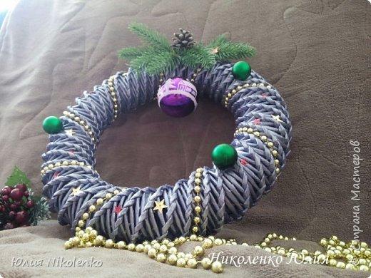 Рождественские и новогоднии венки фото 8