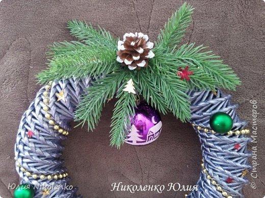 Рождественские и новогоднии венки фото 9