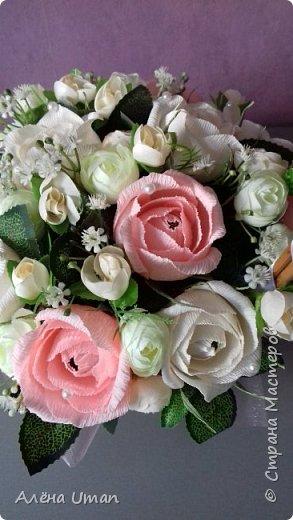 Здравствуйте!очень рада поделиться новыми работами,корзина тюльпанов 29 штук,очень нравятся мне такие цвета) фото 10