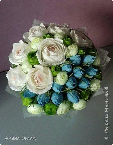 Здравствуйте!очень рада поделиться новыми работами,корзина тюльпанов 29 штук,очень нравятся мне такие цвета) фото 8