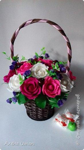 Здравствуйте!очень рада поделиться новыми работами,корзина тюльпанов 29 штук,очень нравятся мне такие цвета) фото 5