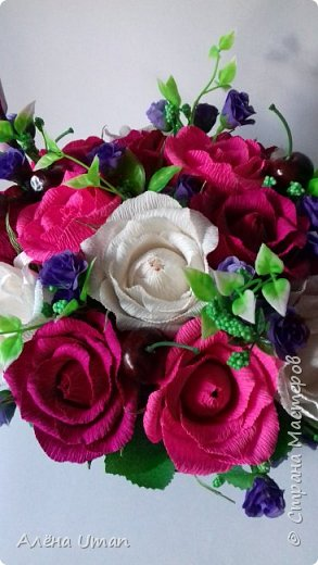 Здравствуйте!очень рада поделиться новыми работами,корзина тюльпанов 29 штук,очень нравятся мне такие цвета) фото 6