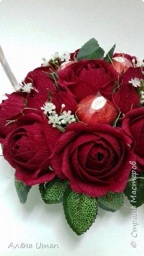 Здравствуйте!очень рада поделиться новыми работами,корзина тюльпанов 29 штук,очень нравятся мне такие цвета) фото 4