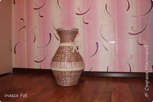 Напольная ваза и корзинка с крышкой фото 2