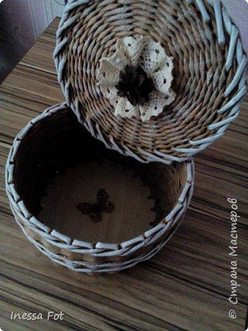 Напольная ваза и корзинка с крышкой фото 6