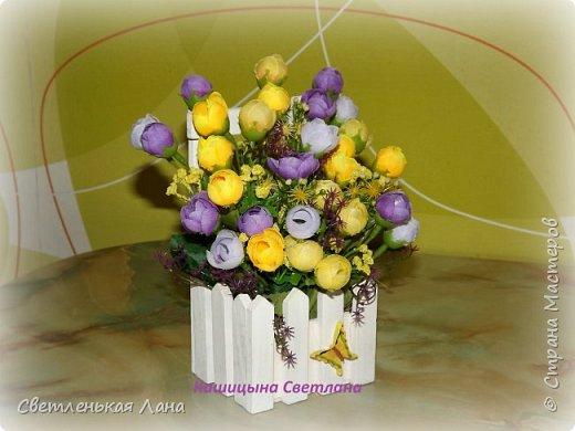 Появилось вдохновение у меня и я сделала четыре цветочных интерьерных композиции.  фото 2