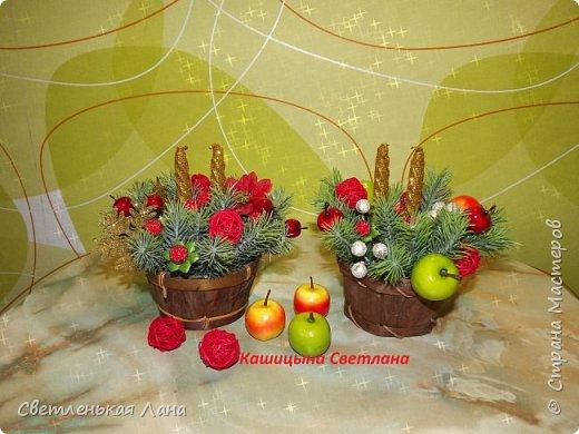Долго не могла придумать куда использовать мне вот эти вазоны-кадушки. Решила сделать в них Новогодние интерьерные композиции для украшения камина к празднику. фото 1