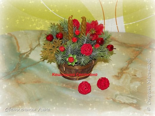 Долго не могла придумать куда использовать мне вот эти вазоны-кадушки. Решила сделать в них Новогодние интерьерные композиции для украшения камина к празднику. фото 4