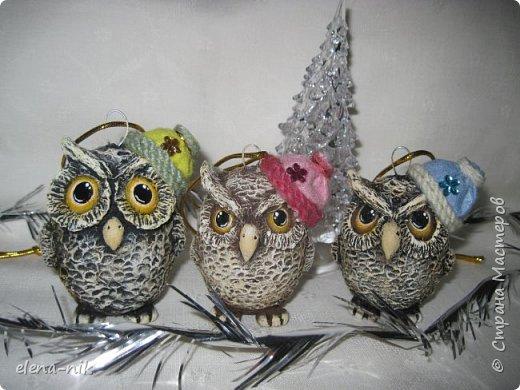 """Здравствуйте!  Подготовка к Новому году продолжается. Сегодня у меня совята-киндерята. Почему киндерята? Потому что в основе яйцо. Вылупились  сегодня. У каждого свое выражение """"лица"""". фото 8"""