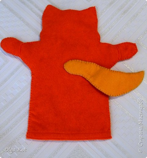 Моя первая рукавичка для кукольного театра фото 3