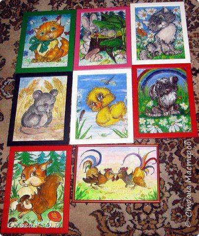 Акриловые зверюшки (картиночки)