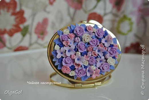 """Зеркальце """"Лиловые цветы"""""""