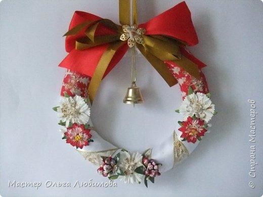 Рождественские венки и новогодний шар фото 3