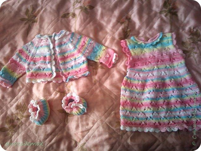А этот костюм я подарила подруге на новорожденную дочку.