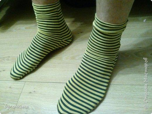 Сшила носочки из остатков трикотажа. фото 2